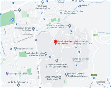 Mapa campus Granada - Cómo llegar