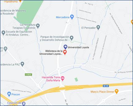 Mapa campus Sevilla - Cómo llegar